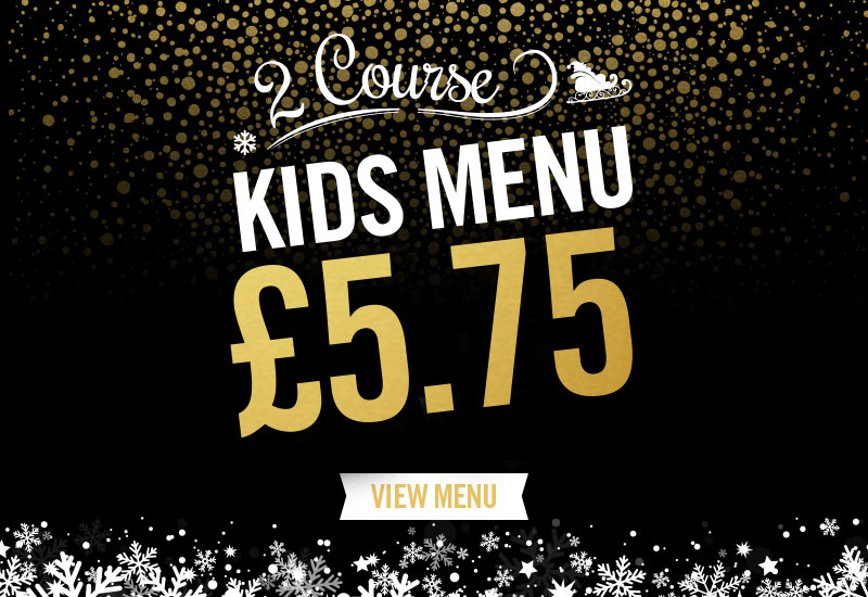 Kids Festive Menu at The Duke Of Devonshire